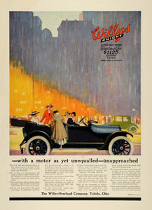 1916 Ad Willys-Overland Motors Knight Touring Car Model Women City CSM1