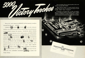 1942 Ad Dominion Engineering Works Montreal Industry Turbines Valves Pumps CWA1