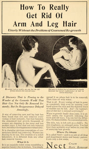1932 Ad Neet Cream Women Arm Leg Hair Remover Stubble Beauty Clay Cosmetic DL2