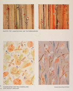 1932 Art Deco Wallpaper Wall Covering Decoration Print - ORIGINAL DMA1