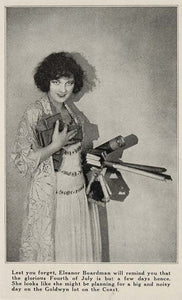 1923 Halftone Print Eleanor Boardman Silent Film Star ORIGINAL HISTORIC EH1