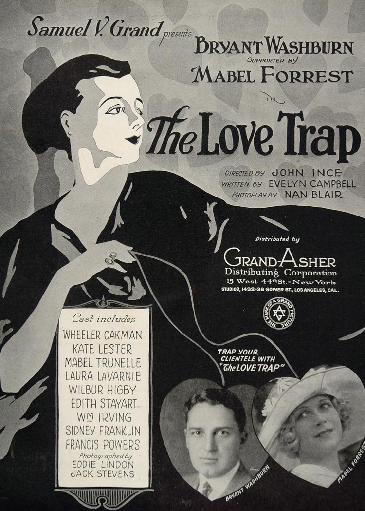 1923 Ad Silent Film Love Trap John Ince Samuel V. Grand - ORIGINAL EH1
