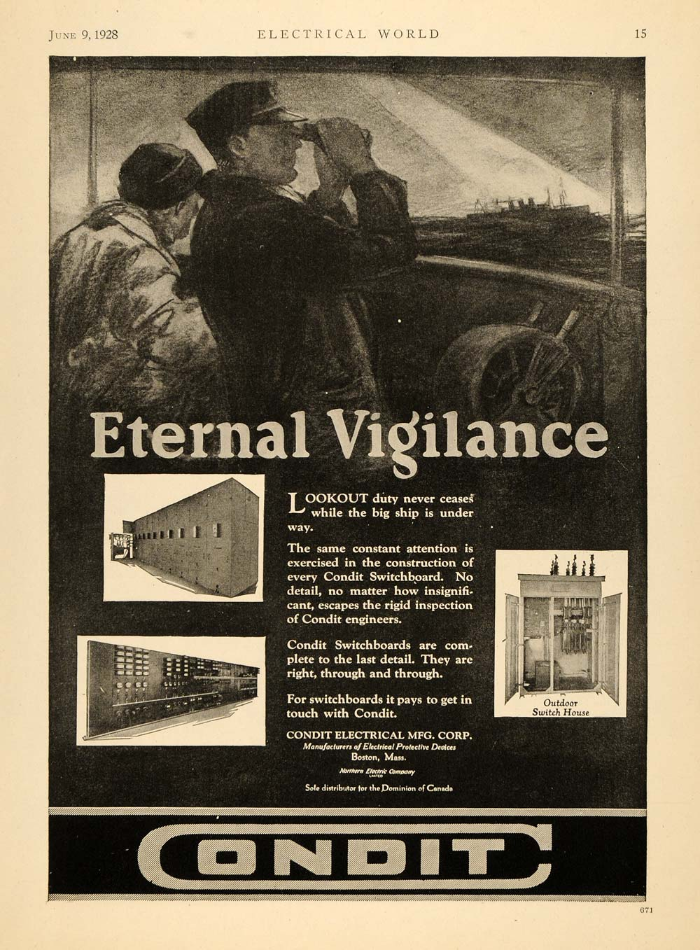 1928 Ad Condit Electrical Manufacturing Switchboards - ORIGINAL ...