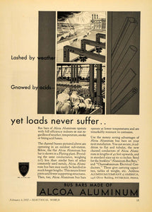 1932 Ad Aluminum Co. of America Alcoa Bus Bars PA - ORIGINAL ADVERTISING ELC1