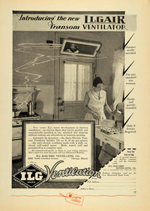 1930 Ad ILG Electric Ventilating Transom Ventilator - ORIGINAL ADVERTISING ELC1