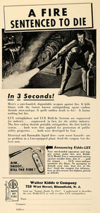 1939 Ad Walter Kidde & Co. LUX Fire Extinguishers NJ - ORIGINAL ADVERTISING ELC1 - Period Paper