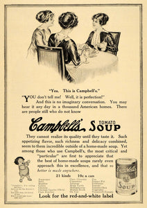 1913 Ad Cornell University Inspired Campbells Soup Can - ORIGINAL EM1