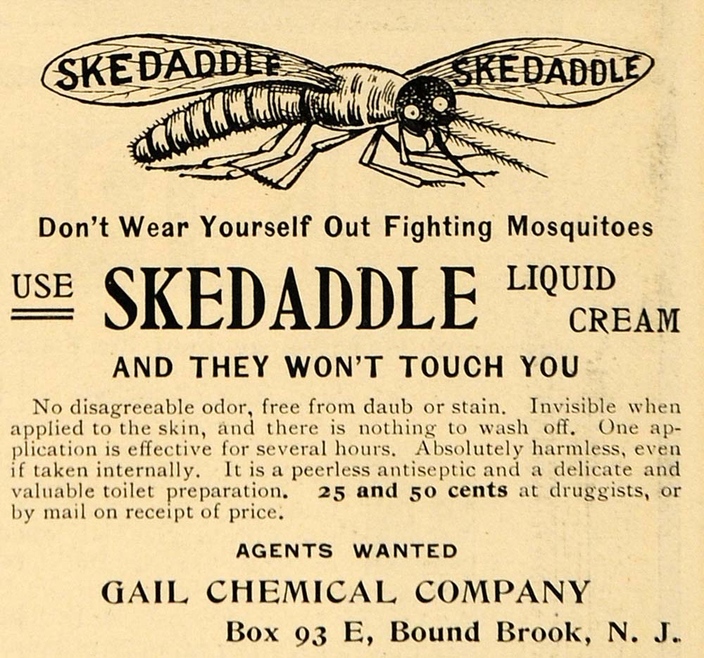 1901 Ad Gail Skedaddle Mosquito Liquid Cream Repellant - ORIGINAL EM2