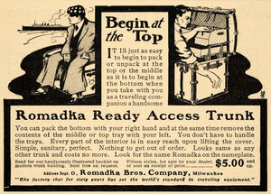 1905 Ad Romadka Ready Access Trunk Pricing Milwaukee WI - ORIGINAL EM2