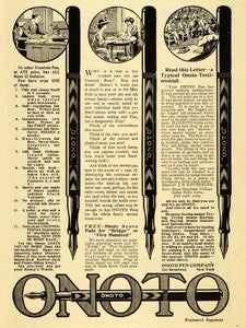 1909 Ad Onoto Pen Fountain Pens Double Ink Broadway New York Writing EM2