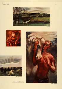 1938 Ad John Carroll Artist Paintings Horses Mythical - ORIGINAL ESQ1