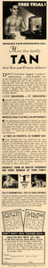 1938 Ad Health Ray Manufacturing Co. Sun Lamp Tanning - ORIGINAL ESQ1