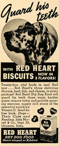 1938 Ad John Morrell Co Red Heart Dry Dog Food Biscuit - ORIGINAL ESQ1