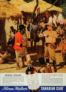 1936 Ad Hiram Walker Canadian Whiskey Rhino Africa Sons - ORIGINAL ESQ1