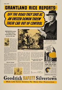 1937 Ad B. F. Goodrich Silvertown Tires Grantland Rice - ORIGINAL ESQ2