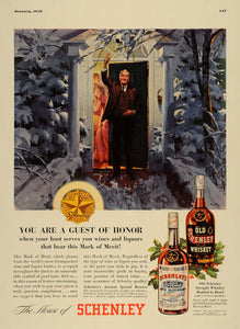 1936 Ad Schenley Ancient Special Reserve Whiskey Guest - ORIGINAL ESQ3