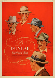 1949 Ad Dunlap Hats Fashion Clothing Clothes Style Pricing Millinery ESQ4