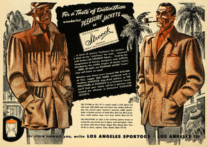 1949 Ad Stroock Pleasure Wool Jackets O'flynn Clothing - ORIGINAL ESQ4