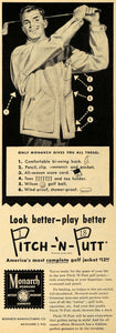 1949 Ad Monarch Mfg. Co. Pitch-'N-Putt Golf Jacket - ORIGINAL ADVERTISING ESQ4