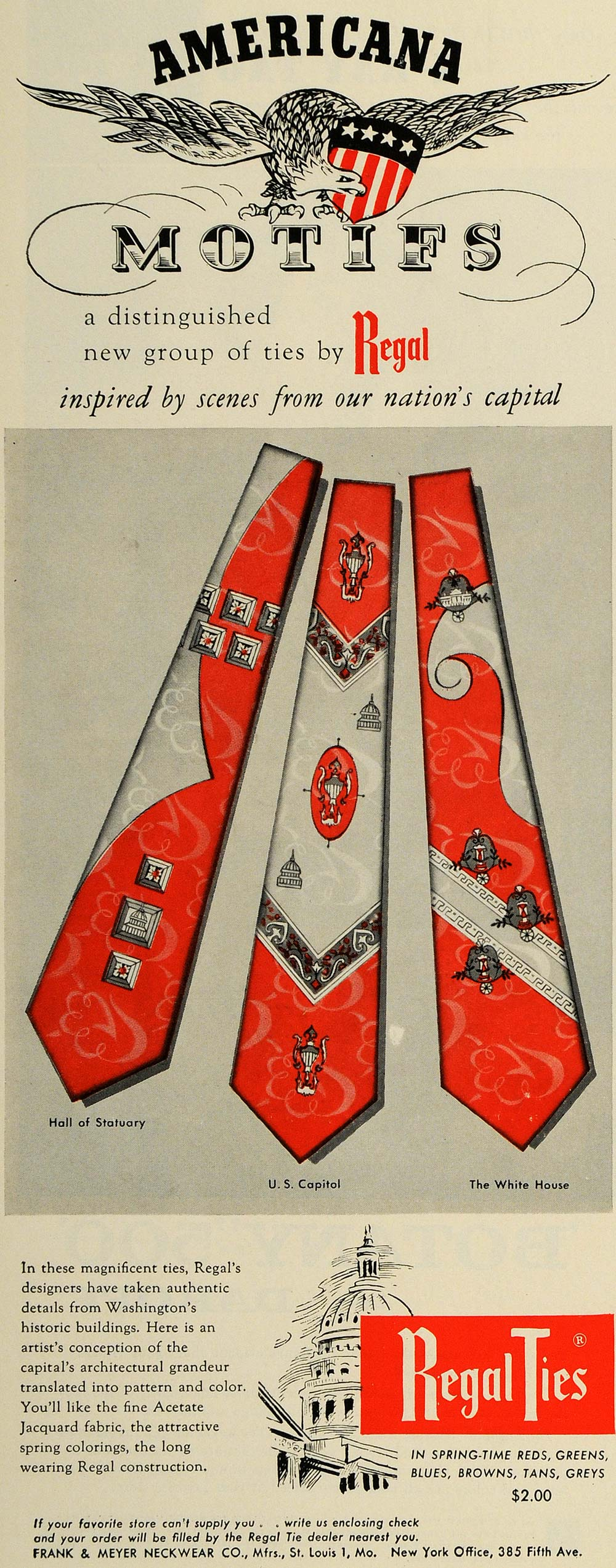 1954 Ad Frank & Meyer Neckwear Co. Regal Ties Clothes - ORIGINAL ESQ4