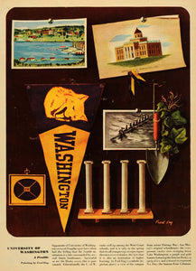 1947 Print Fred Eng University of Washington Symbols - ORIGINAL ESQ4
