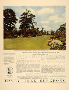 1931 Ad Davey Tree Expert Land Services Penn-Schoells - ORIGINAL ADVERTISING F1A