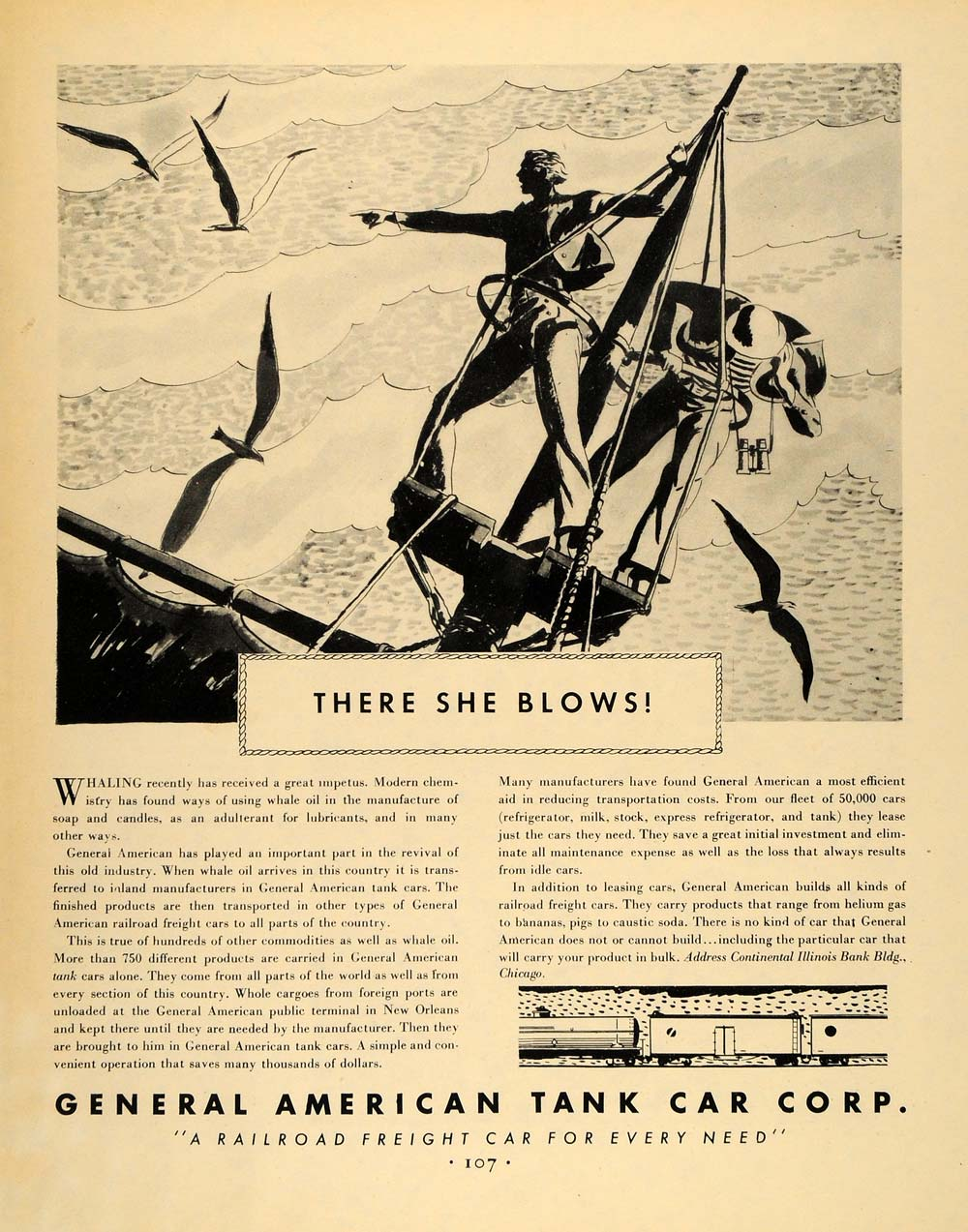 1931 Ad General American Tank Car Railroad Corp Freight Crow's Nest Mainmast F1A