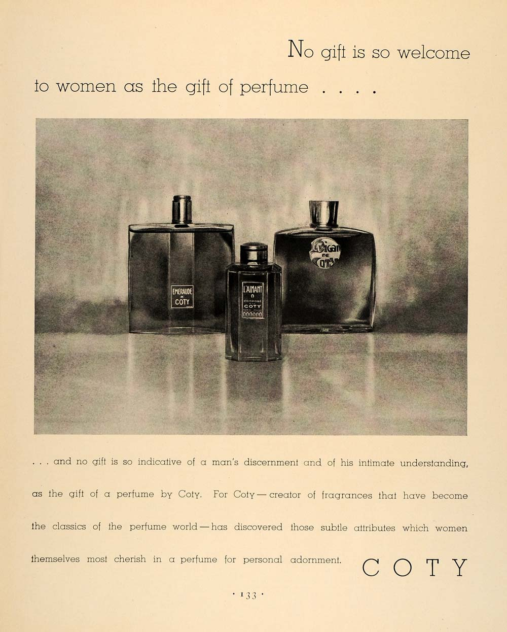 1931 Ad Coty Perfume Fragrance Bottles Parfume Gift - ORIGINAL ADVERTISING F1A