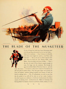 1931 Ad Pierre DeLamarter Musketeer Combustioneer - ORIGINAL ADVERTISING F1A