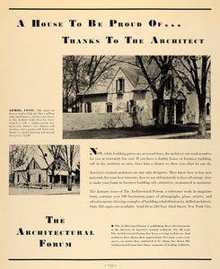 1933 Ad Architectural Forum Remodel Architect John Gray - ORIGINAL F2A