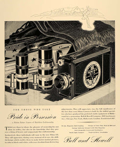 1938 Ad Bell Howell Motion Picture Camera Filmo 141 - ORIGINAL ADVERTISING F2A