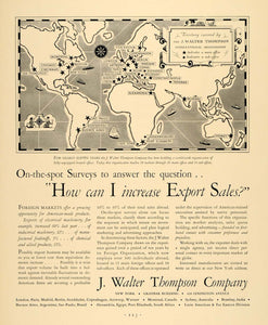 1930 Ad J. Walter Thompson JWT Advertising Marketing - ORIGINAL ADVERTISING F3A