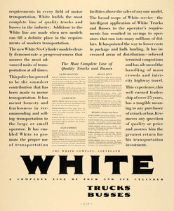 1930 Ad White Truck Delivery Transportation Transit Bus - ORIGINAL F3A