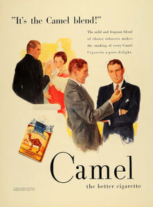 1930 Ad Camel Turkish Domestic Blend Cigarettes Pack - ORIGINAL ADVERTISING F3A