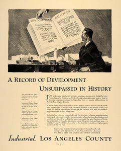 1930 Ad Los Angeles Industrial Dept Chamber Commerce - ORIGINAL ADVERTISING F3A