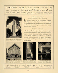 1930 Ad Georgia Marble Lincoln Memorial Lee O. Laurie - ORIGINAL ADVERTISING F3A