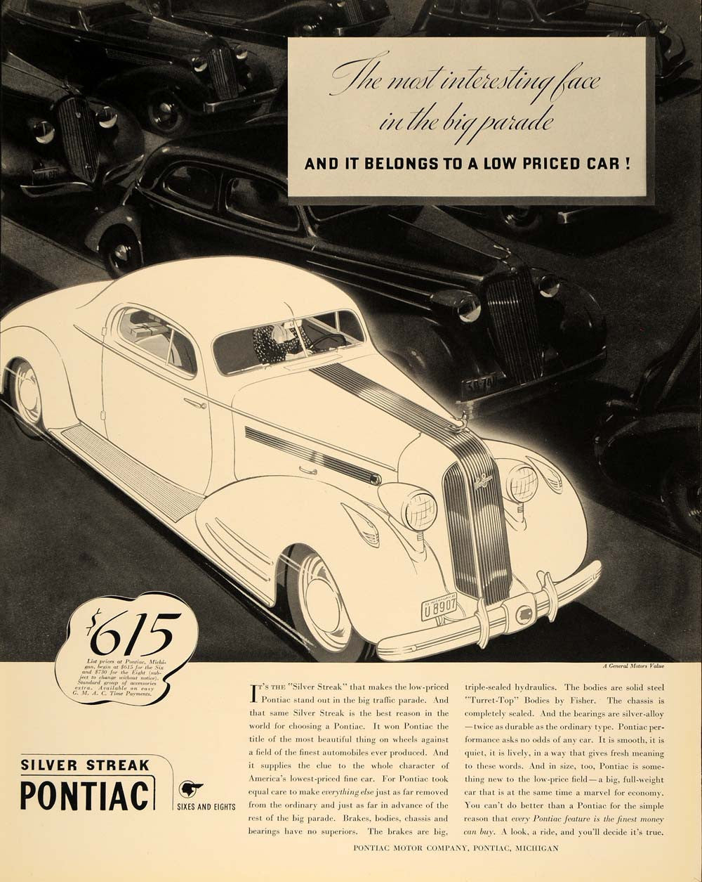 Vintage Advertising Art Tagged American Other Page 25 Period Paper 1941 Pontiac Silver Streak Coupe 1935 Ad Automobile Cars Original F3a