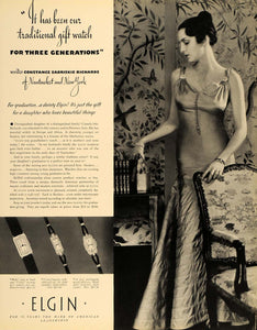 1935 Ad Elgin Jewel Watch Constance Zabriskie Richards - ORIGINAL F3A