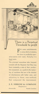 1930 Ad J E Sirrene Engineers Industry Illustration - ORIGINAL ADVERTISING F3B