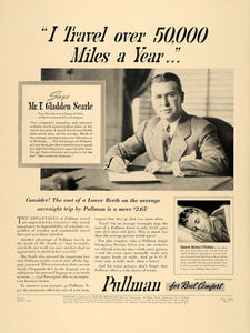1940 Ad Pullman Railway Train Locomotive Rail Searle - ORIGINAL ADVERTISING F4A