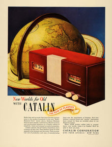 1940 Ad Catalan Plastics Radio Numeral Clock Martinek - ORIGINAL ADVERTISING F4A