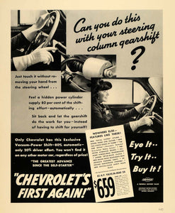 1940 Ad General Motors Chevrolet Car Vacuum-Power Shift - ORIGINAL F4A