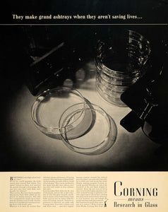1940 Ad Corning Glass Works Products Petri Dishes - ORIGINAL ADVERTISING F4A