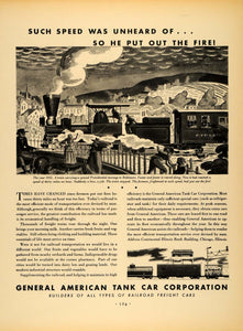 1932 Ad General American Tank Car Corp Railroad Freight Locomotive Train F5A