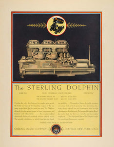1932 Ad Sterling Engine Buffalo Dolphin Locomotive - ORIGINAL ADVERTISING F5A