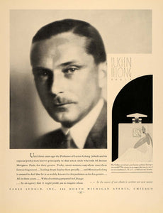 1932 Ad Lucien Lelong Perfumes Earle Ludgin Couturier - ORIGINAL ADVERTISING F5A