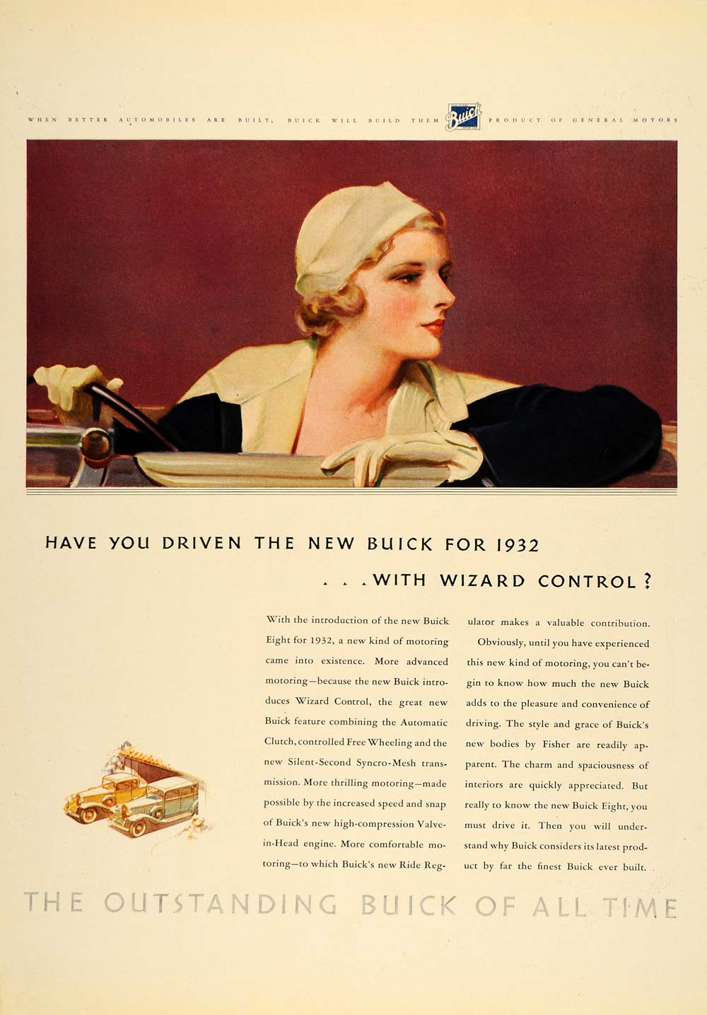 1932 Ad Buick Eight Automobile Wizard Control Fisher - ORIGINAL ADVERTISING F5A