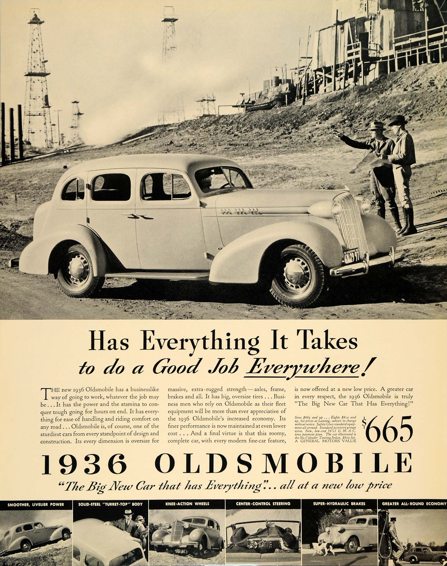 1936 Ad Oldsmobile Vintage Motor Vehicle Turret Top Car - ORIGINAL ...