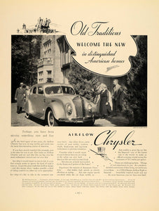 1936 Ad Chrysler Airflow Eight Sedan Automobile Cars - ORIGINAL ADVERTISING F5A