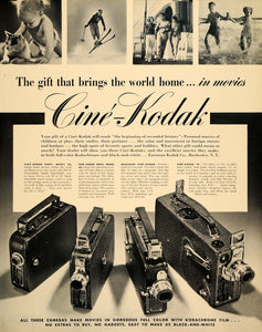 1936 Ad Cine Eastman Kodak Kodachrome Magazine Camera - ORIGINAL ADVERTISING F5A